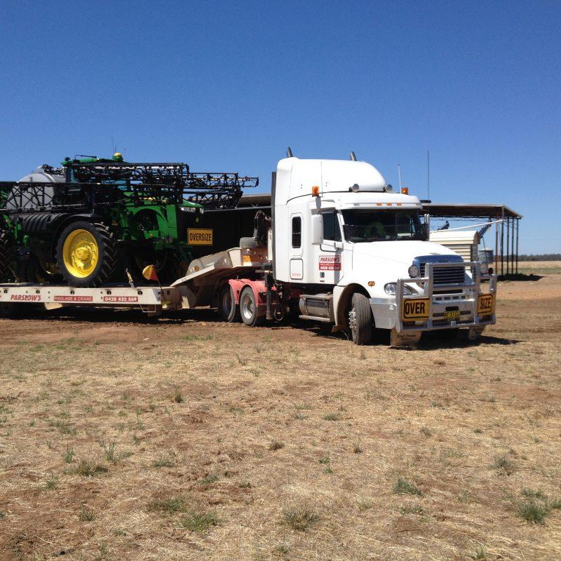 2 widening low loader